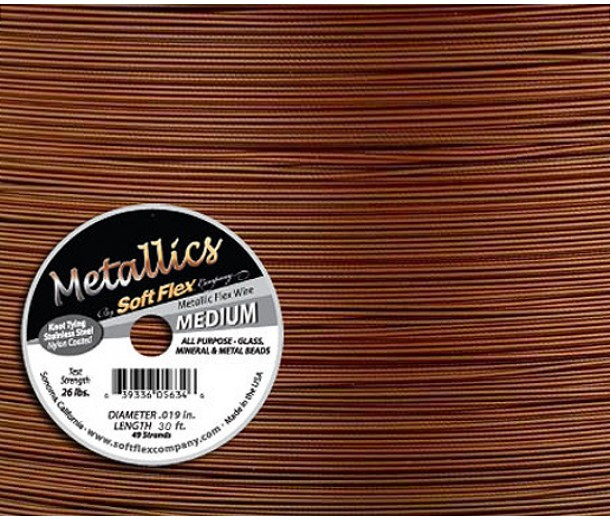 .019 Copper Soft Flex® Metallics Wire, 30 Foot Spool