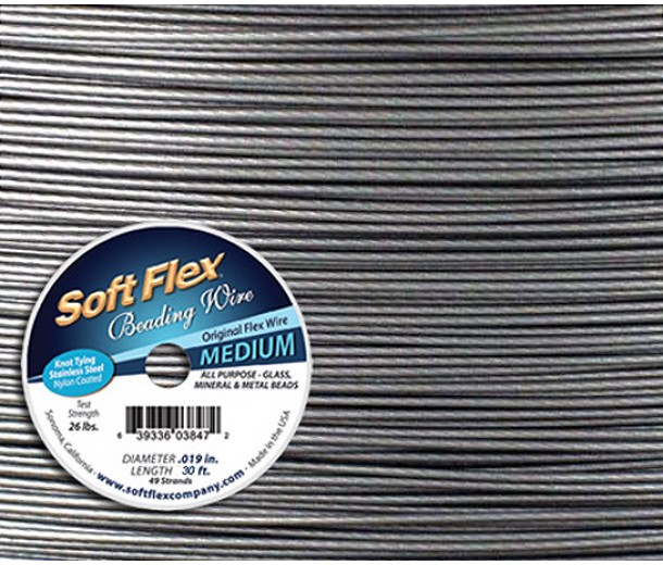 .019 Steel Tone Soft Flex® Beading Wire