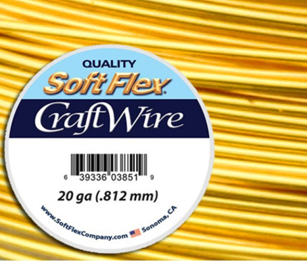 20 Gauge Silver Plated Gold Soft Flex® Craft Wire