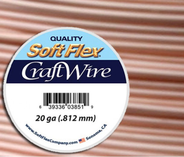 20 Gauge Silver Plated Rose Gold Soft Flex Craft Wire, 25 Ft Spool