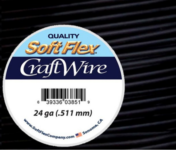 24 Gauge Black Soft Flex® Craft Wire