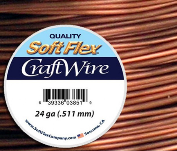 24 Gauge Non-Tarnish Antique Copper Soft Flex® Craft Wire