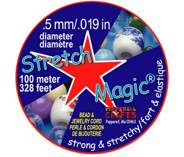 0.5mm Clear Stretch Magic Beading Cord 100m Spool