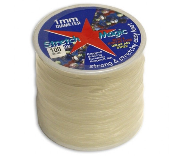 1mm Clear Stretch Magic Beading Cord 100m Spool