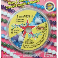 1mm Clear Stretch Magic Beading Cord 25m Spool