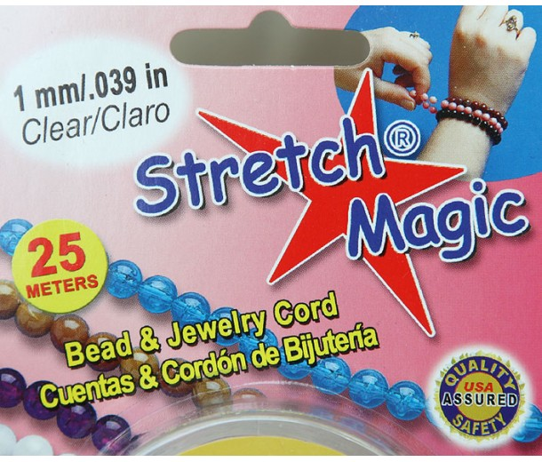 1mm Clear Stretch Magic Beading Cord 25m Spool