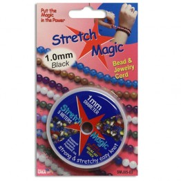 1mm Black Stretch Magic Beading Cord 5m Spool
