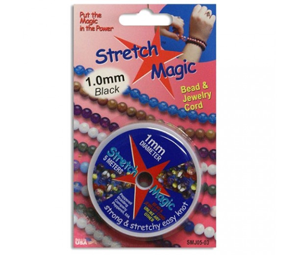 1mm Black Stretch Magic Beading Cord 5m Spool