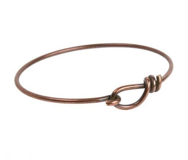 Wire Bangle Bracelet by TierraCast, Antique Copper