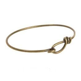 Wire Bangle Bracelet by TierraCast, Antique Brass