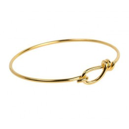 Wire Bangle Bracelet by TierraCast, Gold Plated