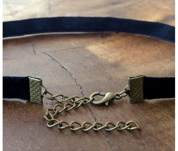 14 Inch Finished Choker Necklace, Black Velvet
