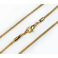 18 Inch Finished Rope Chain, Gold Plated