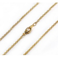 18 Inch Finished Fine Cable Chain, Gold Plated