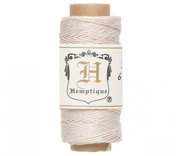 0.5mm White Natural Hemp Cord by Hemptique, 100 Ft Spool