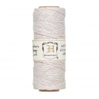 1mm White Polished Hemp Cord by Hemptique