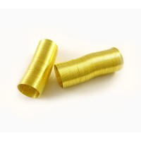 Steel Memory Wire, Gold Tone, 20mm Coil Diameter