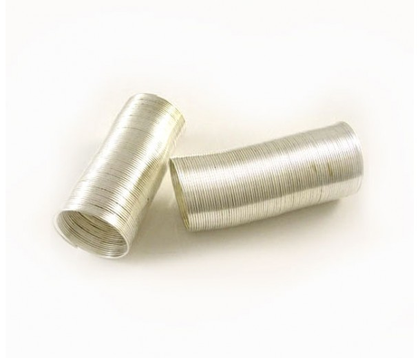 Steel Memory Wire, Silver Tone, 20mm Coil Diameter
