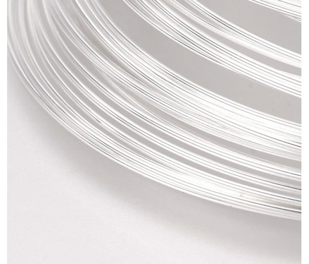 Steel Memory Wire, Silver Tone, 55mm Coil Diameter