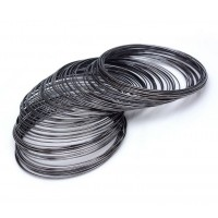 Steel Memory Wire, Gunmetal, 60mm Coil Diameter