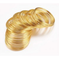Steel Memory Wire, Gold Tone, 60mm Coil Diameter