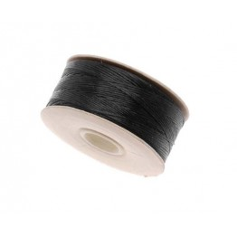 Size 00 Black Nylon Nymo Thread, 140 yd Bobbin