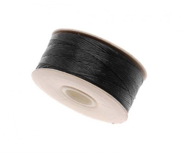Size 00 Black Nylon Nymo Thread, 140 yd Bobbin