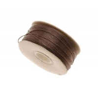Size D Brown Nylon Nymo Thread, 64 yd Bobbin