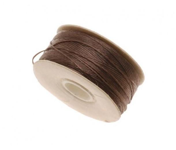 Size D Brown Nylon Nymo Thread, 64 yd Bobbin