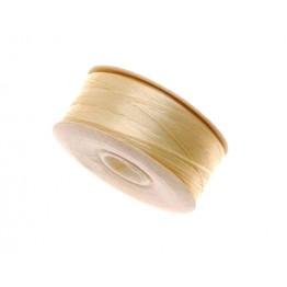 Size D Light Tan Nylon Nymo Thread, 64 yd Bobbin