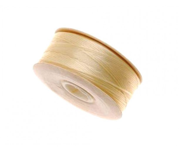 Size D Light Tan Nylon Nymo Thread, 64 yd Bobbin