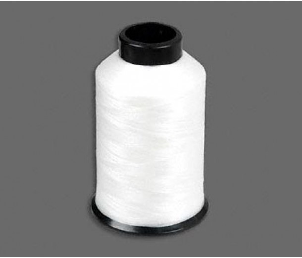 Size D White Nylon Nymo Thread, 3 oz Spool