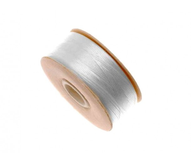 Size 0 White Nylon Nymo Thread, 115 yd Bobbin