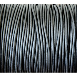 2mm Natural Black Round Leather Cord
