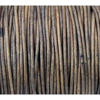2mm Matte Beige Round Leather Cord, Sold by Yard
