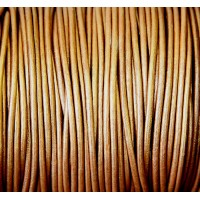 2mm Metallic Copper Round Leather Cord