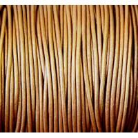2mm Metallic Copper Round Leather Cord
