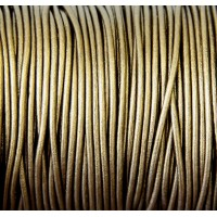 2mm Metallic Bronze Round Leather Cord