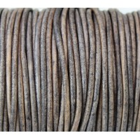 3mm Matte Beige Round Leather Cord, Sold by Yard