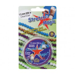 1.5mm Clear Stretch Magic Beading Cord 4m Spool