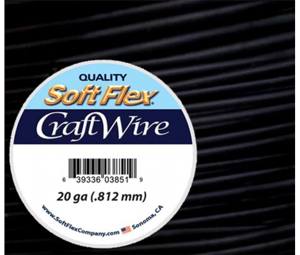 20 Gauge Black Soft Flex Craft Wire, 10 Yard Spool