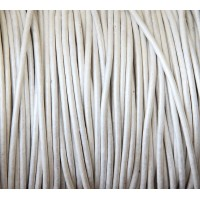 2mm Metallic Pearl Round Leather Cord