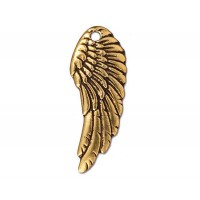 28mm Wing Charm by TierraCast, Antique Gold