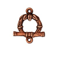 14mm Bamboo Toggle Clasp Set by TierraCast, Antique Copper, 1 Set