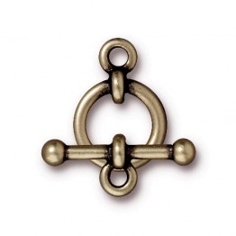 12mm Anna Toggle Clasp Set by TierraCast, Brass Oxide