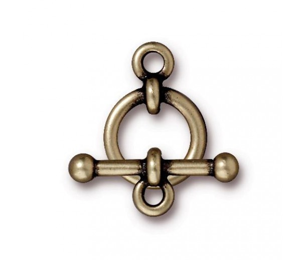 12mm Anna Toggle Clasp Set by TierraCast, Brass Oxide, 1 Set