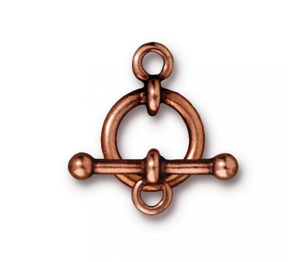 12mm Anna Toggle Clasp Set by Tierracast, Antique Copper