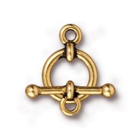 12mm Anna Toggle Clasp Set by TierraCast, Antique Gold