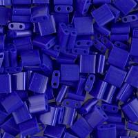 5x5mm Miyuki Tila Beads, Opaque Cobalt Blue, 10 Gram Bag