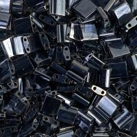 5x5mm Miyuki Tila Beads, Metallic Gunmetal, 7.2 Gram Tube